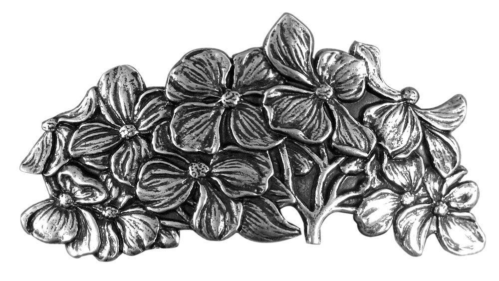 Oberon Design Dogwood Hair Clip | Pasador, Broche de Pelo | Barrette de metal hecho a mano con clips franceses PB62