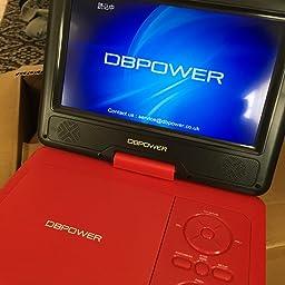 Amazon Co Jp カスタマーレビュー Dbpower ポータブルdvdプレーヤー9 5インチ180度回転可能なリージョンフリーsd Ms Mmcカード 電源にusbが対応可能なシガーソケットリモコンからとゲームパッド ブラック を供給することができます ブラック