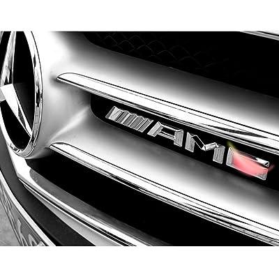 YIKA AMG Metal Car Sticker Decal Emblem Badge Fit Mercedes-Benz Car Front Grille: Automotive