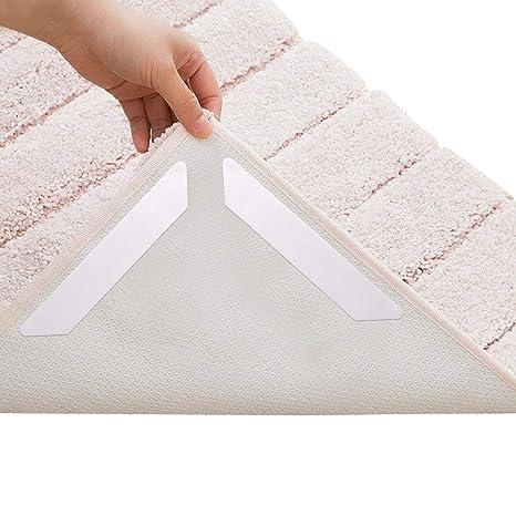 Aolvo Alfombra Gripper doble cara Alfombra cinta antideslizante alfombrilla Heavy Duty gruesa cinta reutilizable y renovable