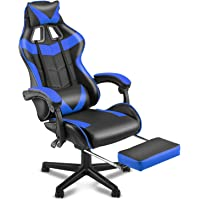 Soontrans Gaming Chair with Footrest,Gaming Computer Chair, Office Gaming Chair Ergonomic Gamer Chair with Height…