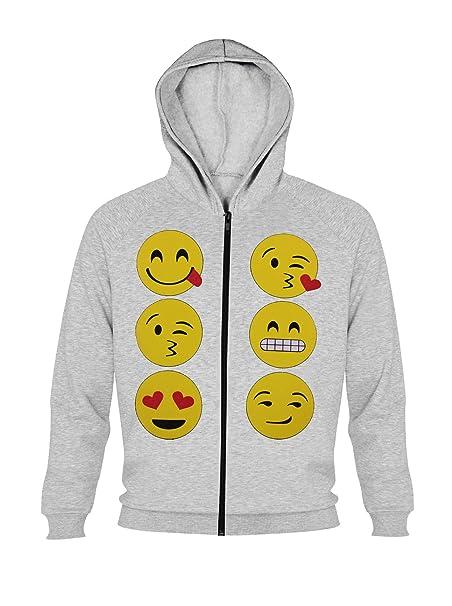 Sudaderas con capucha con estampado de emoticonos para niñas, sudadera deportiva de manga larga para
