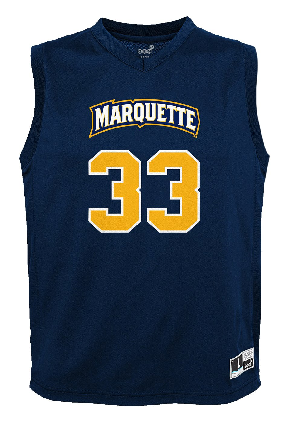 NCAA by Outerstuff NCAA Marquette Golden Eagles Youth boys Chase Basketball Jersey 18 Navy Youth X-Large