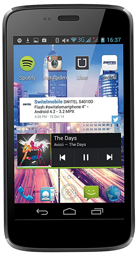 SWITEL S4010D Flash - 3G HSPA+ - 4 GB - GSM - smartphone Android
