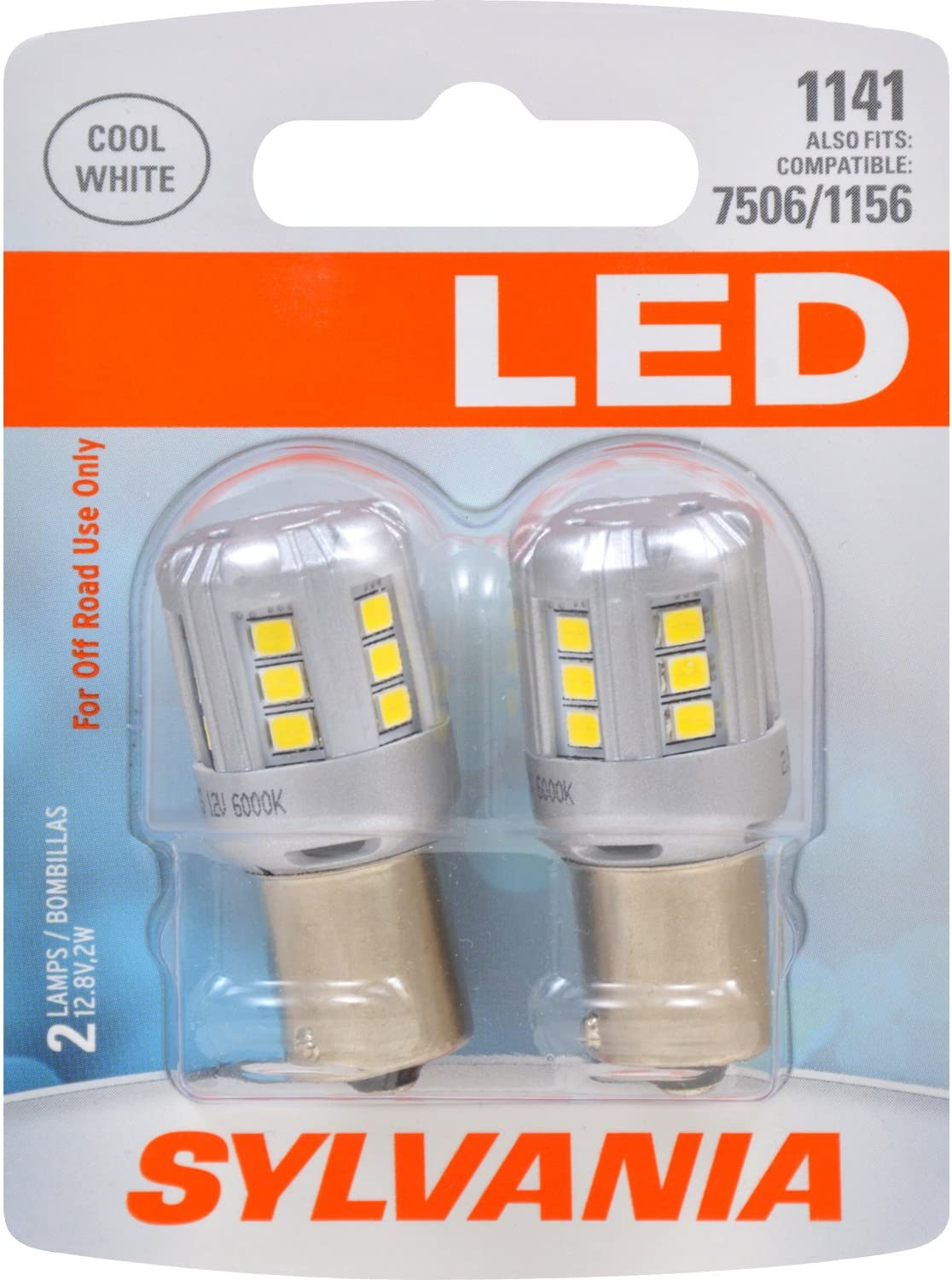 1141 Long Life Miniature Contains 2 Bulbs DRL SYLVANIA Ideal for Daytime Running Lights Bulb and Back-Up//Reverse Lights