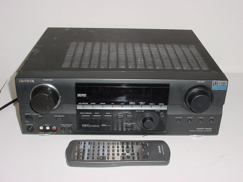 Amazon.com: Aiwa av-dv75 Super t-bass Pro-logic estéreo ...