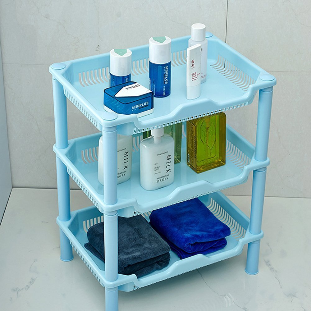 Amazon.com: Lecent@ 3 Layer Plastic Small Storage Shelves Plastic ...