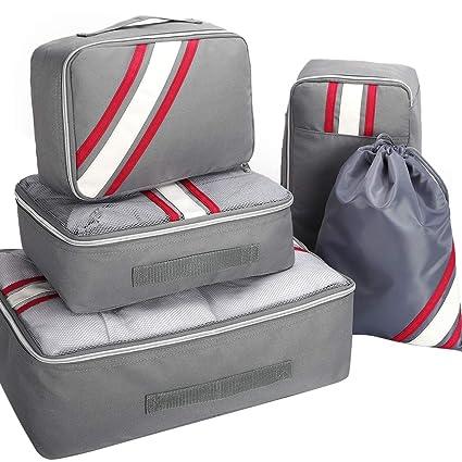 Aicehome 5 Set Organizador Maleta Viaje, Bolsas Viaje ...