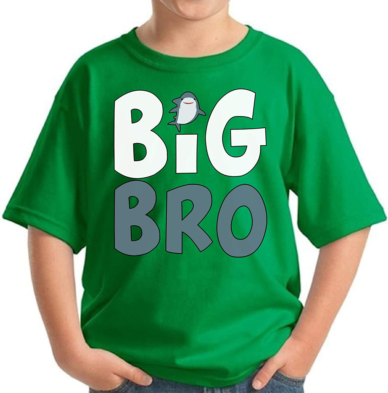 Awkward Styles Funny Shark Clothing Big Brother Baby Announcement Youth Shirt for Boys