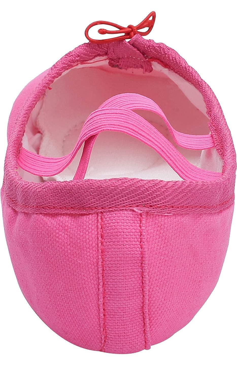 L-RUN Girls//Womens Canvas Ballet Dance Shoes//Ballet Shipper//Yoga Shoe