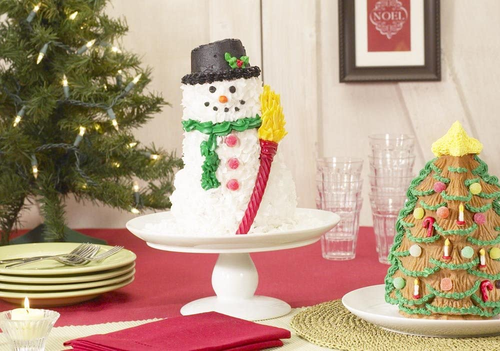 Christmas in July Williams Sonoma SNOWMAN Cake Pan Nordic Ware 3D Large 11 tall Cute Christmas Baking Accessory Unused