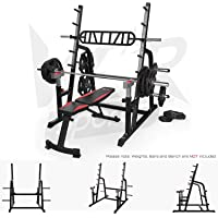 We R Sports Adjustable Weight Lifting Squat Rack Gym Bench Press Barbell Stand