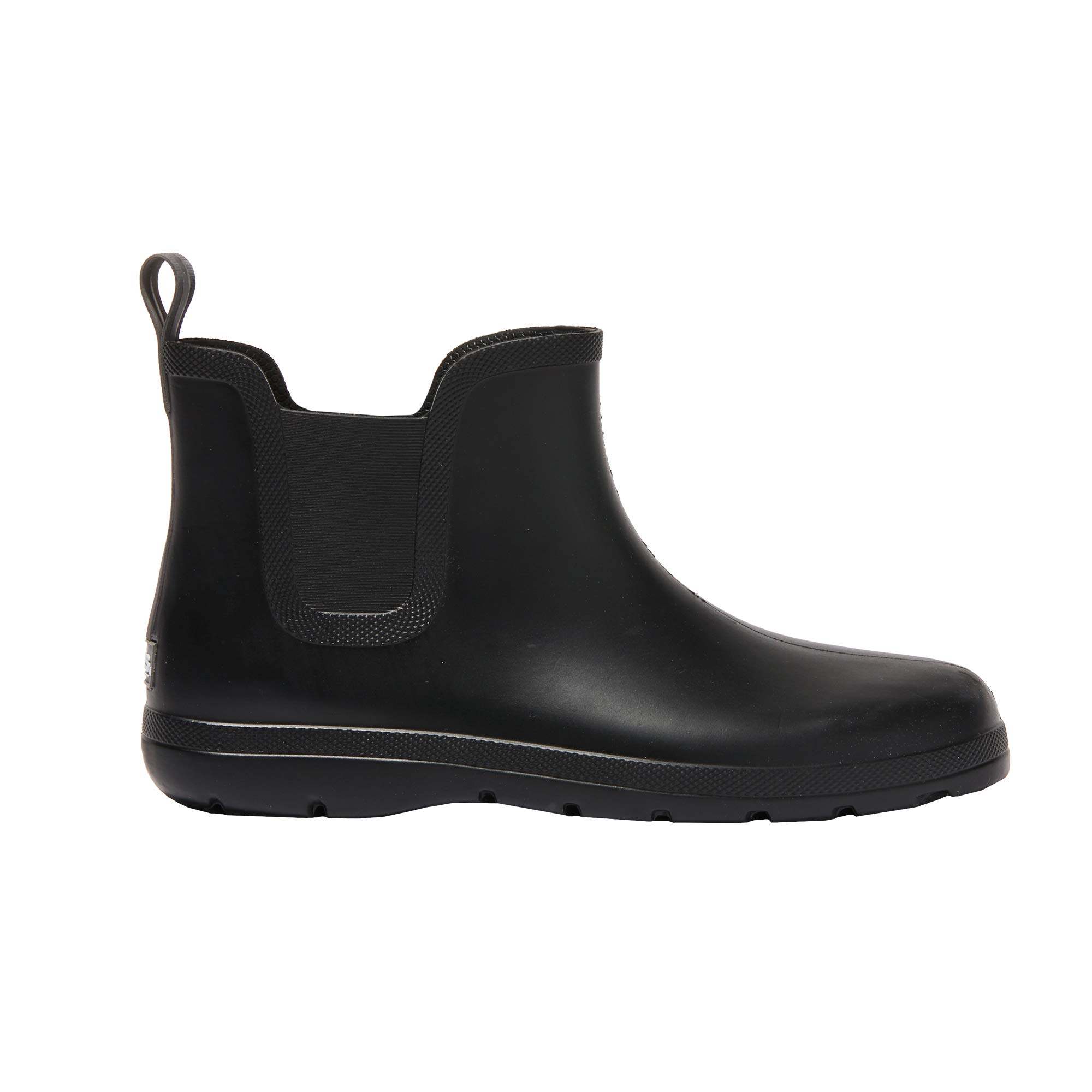 totes Men's Cirrus Chelsea Ankle Rain Boot, Black, 11 by totes