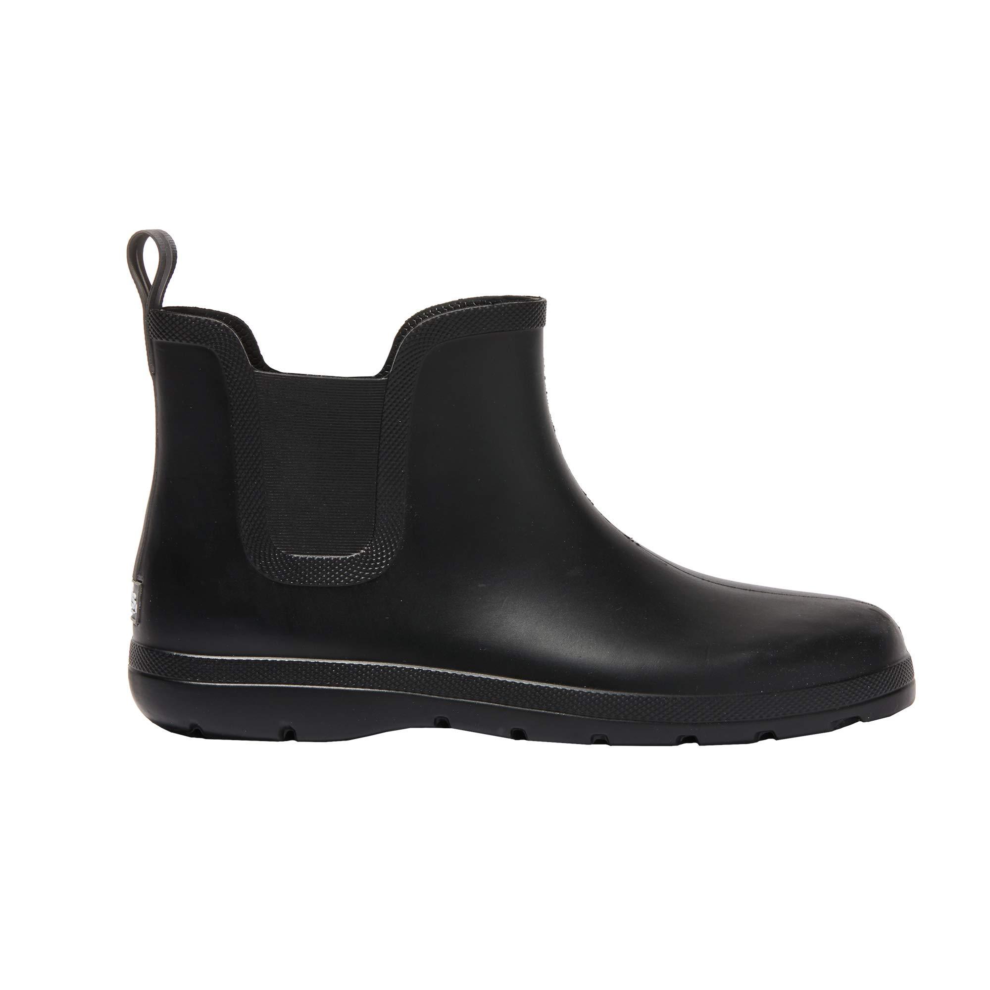 totes Men's Cirrus Chelsea Ankle Rain Boot Black