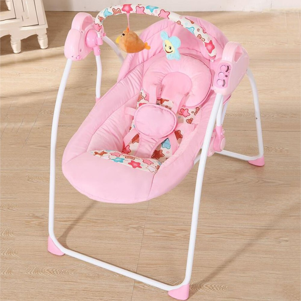 lztet椅子Bouncers Baby Rocking椅子リクライニングElectric Shaker子Cradleベッド子comfortingreclining椅子Soothing振動 35462  Pinkc B07FBTHDRR