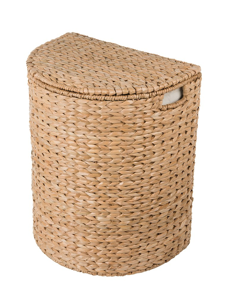 Kouboo Sea Grass Half Moon Basket with Removable Liner, Natural Color Laundry Hamper, One Size, Brown - 20.5 inches wider x 14.5 inches deep x 24 inches high Handle woven from naturally grown sea grass Offered with removable cotton liner - laundry-room, hampers-baskets, entryway-laundry-room - 71pmO22LlrL -