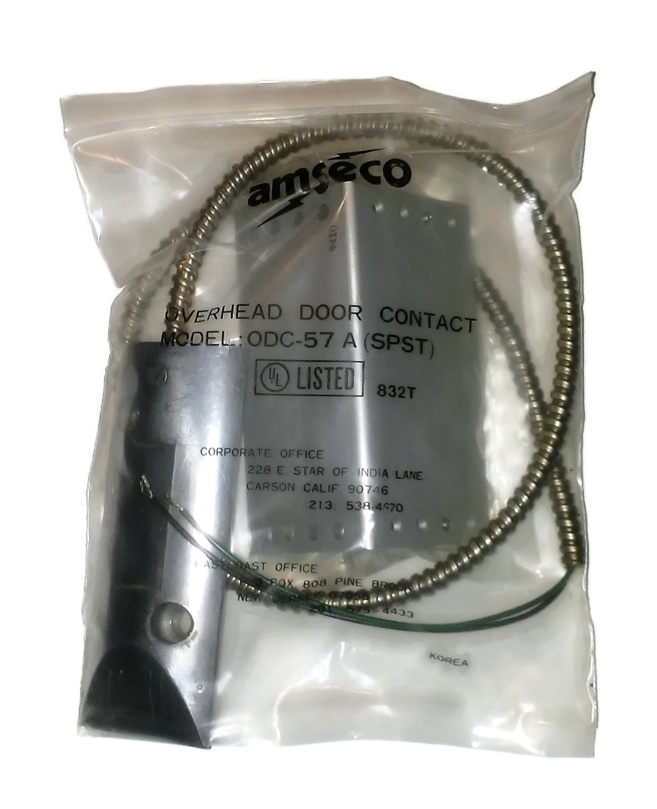 Amseco Potter ODC-57A Overhead Door Contact Switch