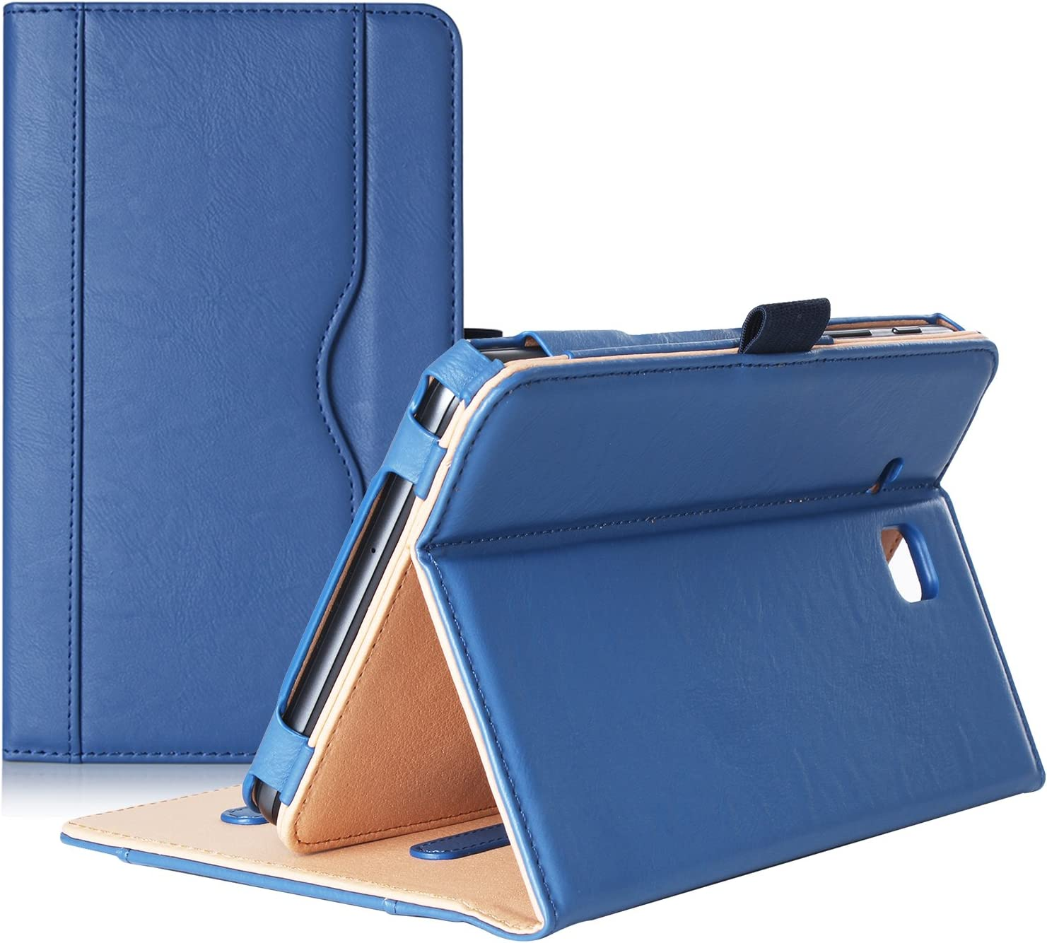 ProCase Galaxy Tab A 7.0 2016 Case T280 T285, Stand Folio Case Cover for Galaxy Tab A 7.0 SM-T280 SM-T285 Tablet, with Multiple Viewing Angles, Document Card Pocket (Navy Blue)