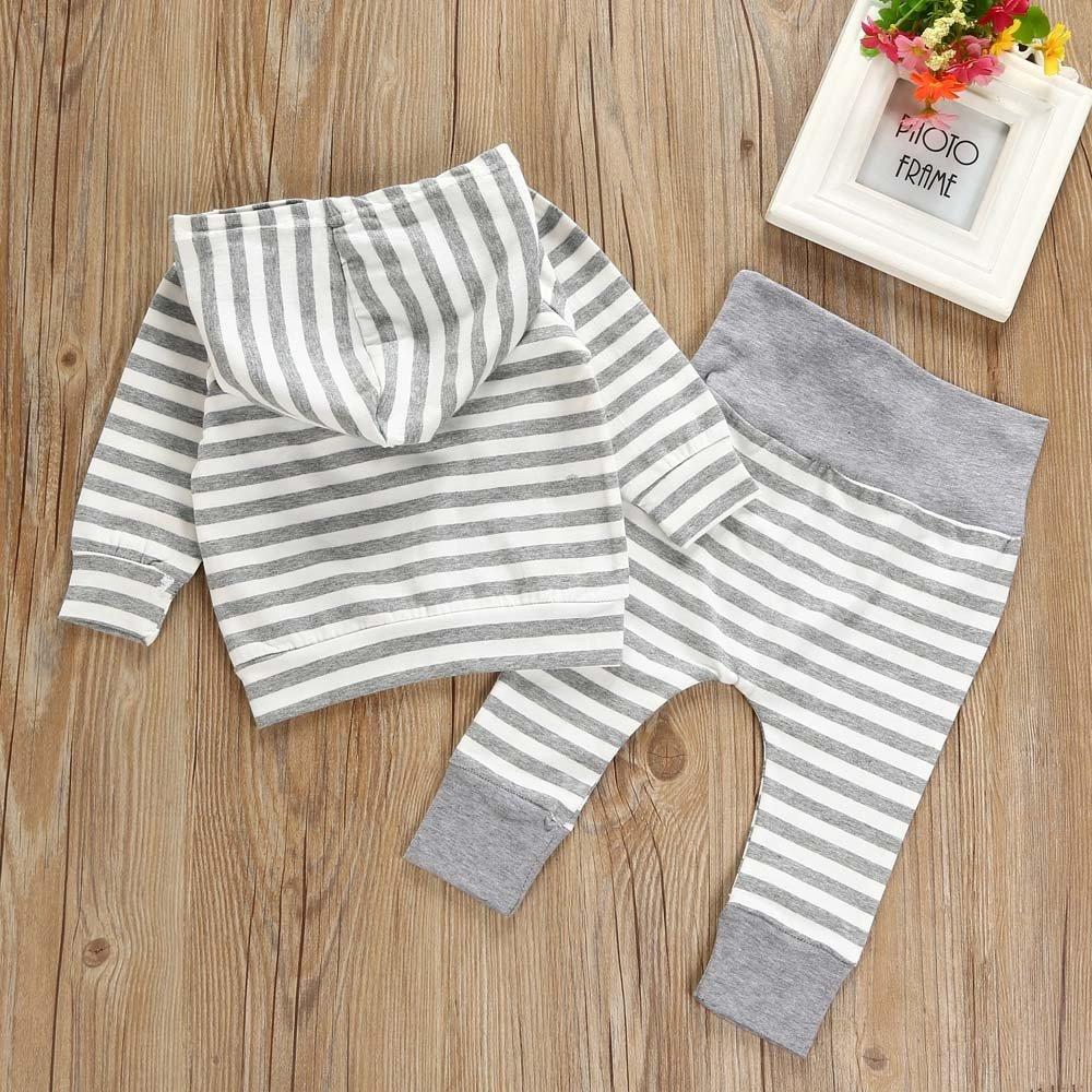 Kukul Ropa para Beb/é Ni/ños y Ni/ñas Camisetas de manga larga Pantalones Conjuntos