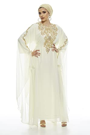 Covered Bliss Lanya Kaftan For Women Long Sleeve Maxi Dress Gown