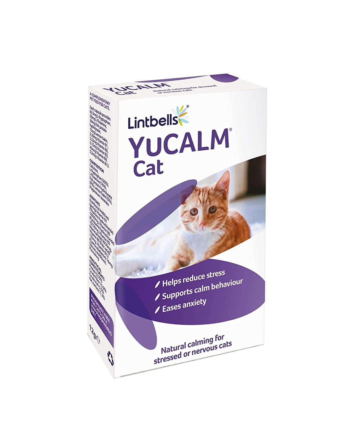 Lintbells YuCALM Calming Capsules for Cats, Pack of 30: Amazon.co.uk ...