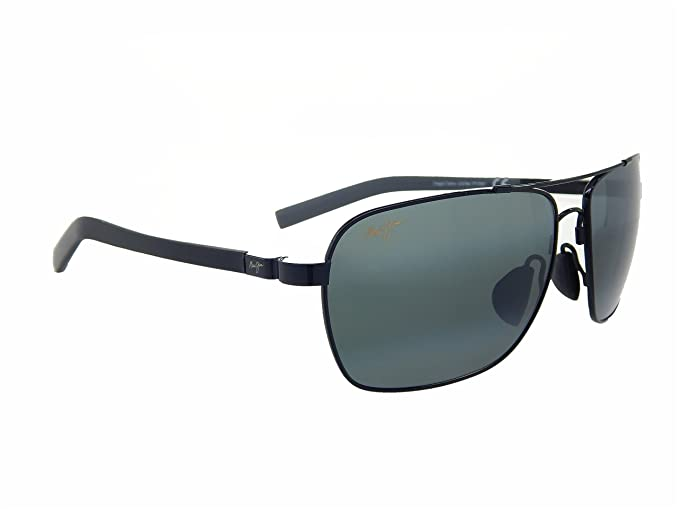 a6b60e85e3c Image Unavailable. Image not available for. Colour  Maui Jim Freight Trains  326-02 Gloss Black Neutral Grey Polarized Sunglasses