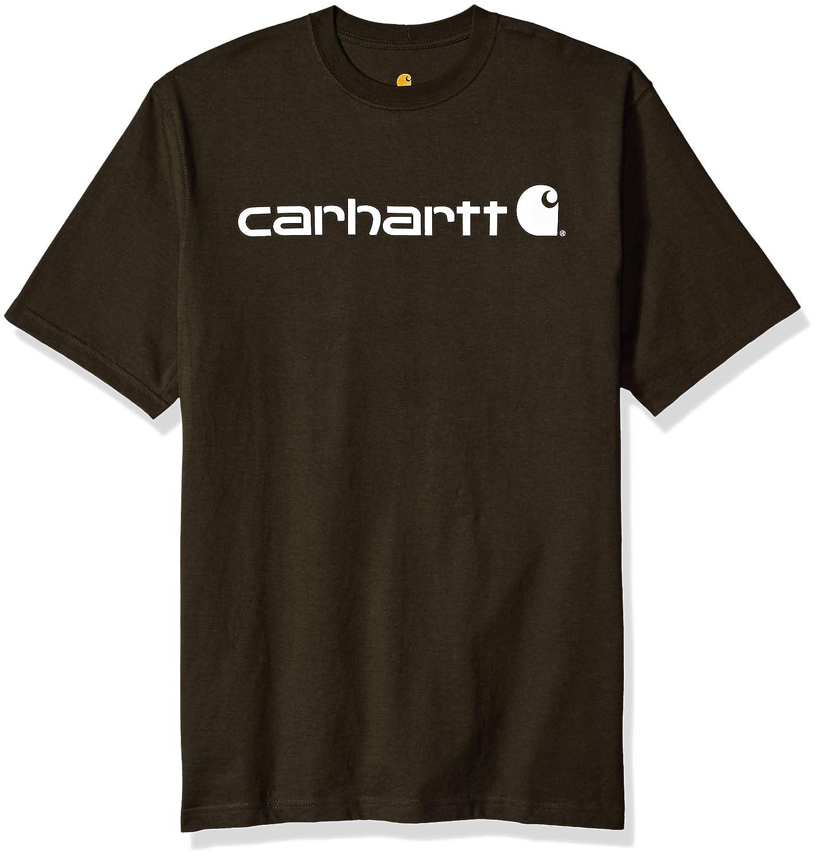 d076fd3f79 Amazon.com: Carhartt Men's Big & Tall Signature Logo Short Sleeve Jersey T- Shirt K195: Clothing