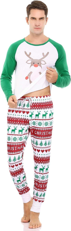 Aibrou Pijamas Navidad para Familias Pijama Mujer Hombre Ni/ños Ni/ña Invierno de Manga Larga Pijama Hombre Navidad Ropa de Dormir para Mam/á Pap/á Ni/ños