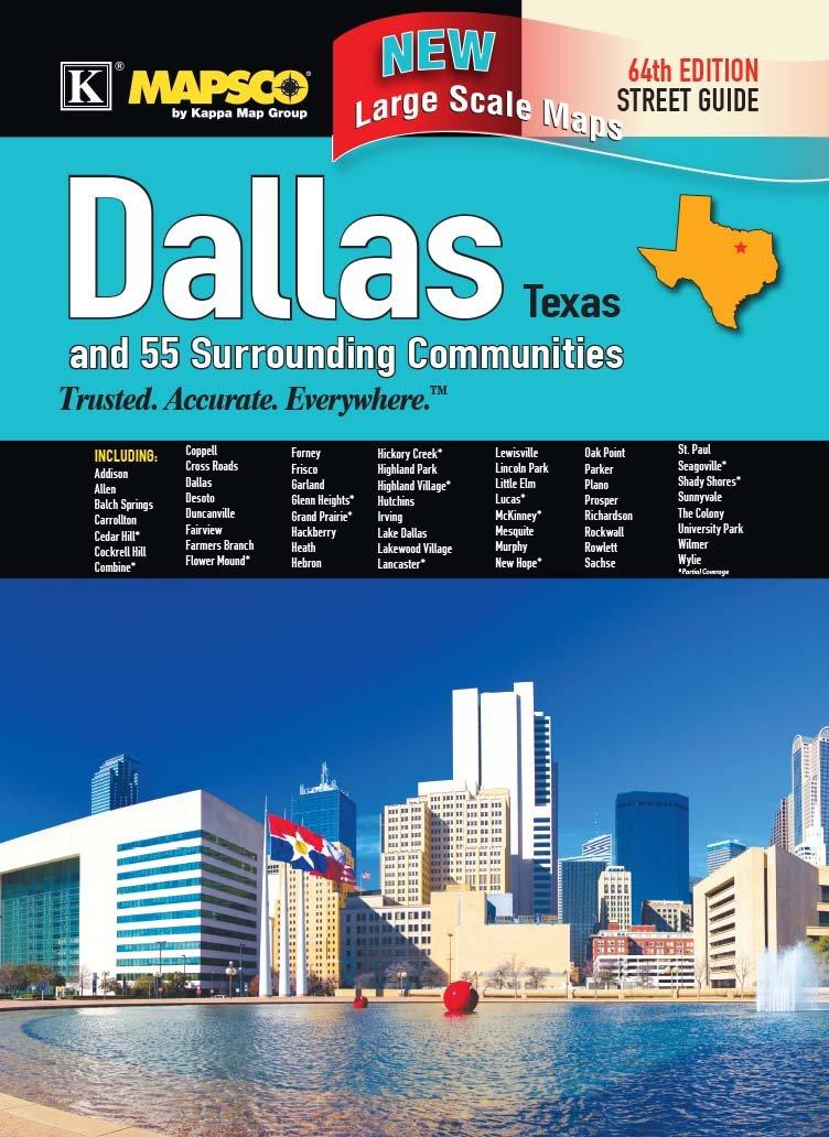 Dallas, TX Street Guide Large Scale: Kappa Map ...