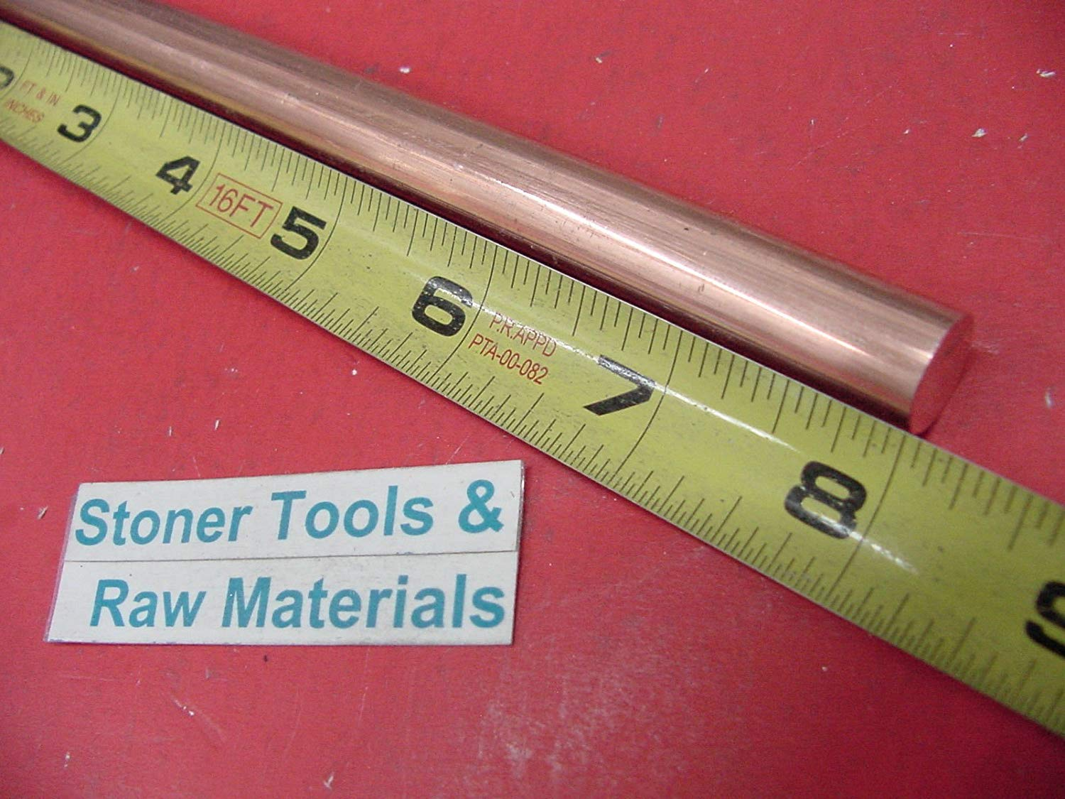 """1/"""" C110 COPPER ROUND ROD 12/"""" long H04 Solid 1.00/"""" OD CU New Lathe Bar Stock"""