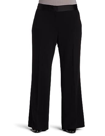 8b488710e4c Ak Anne Klein Women s Plus Size Stretch Crepe Wide Leg Pant