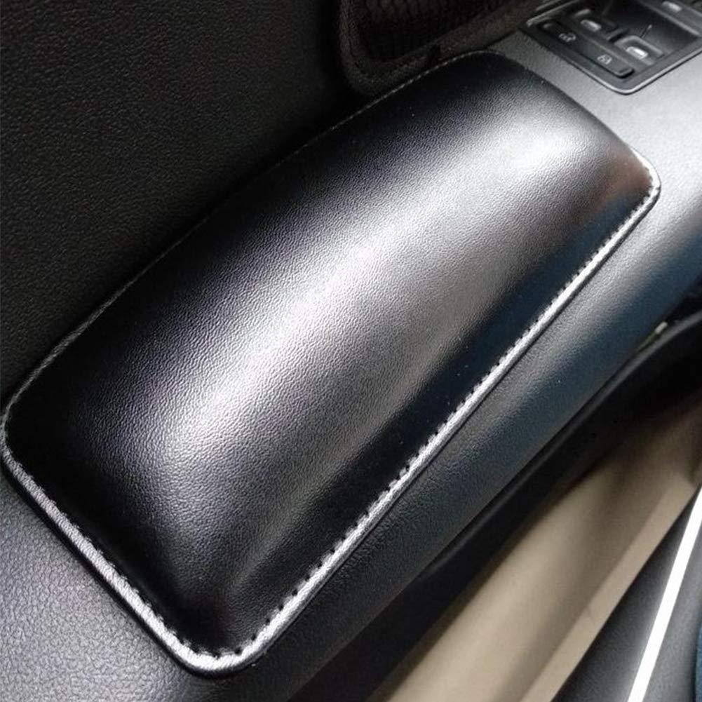 Black Car Knee Pad Soft Leather Car Door Armrest Driver Arm Protective Pad Pillow Car Interior Accessories
