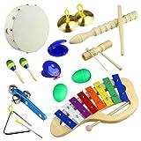 Tera® Glockenspiel-Set Schlaginstrumente Kinder pädagogisches Spielzeug, ideal Geschenk für Kinder