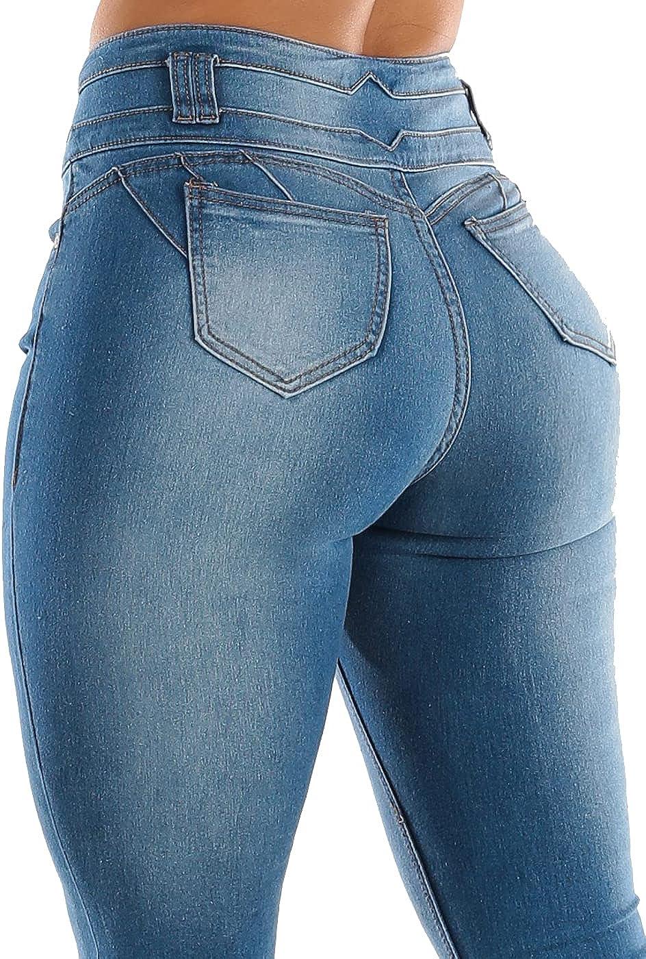 Colombian Women/'S Stretch Skinny Leg Long Pants Butt Lifting Denim Pencil Jeans