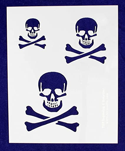 amazon com skull stencil 14 mil 2 3 4 1 sheet painting