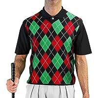 95422db4fc6e0 V-Neck Argyle Golf Sweater Vests - GolfKnickers  Mens - Pullover - (A