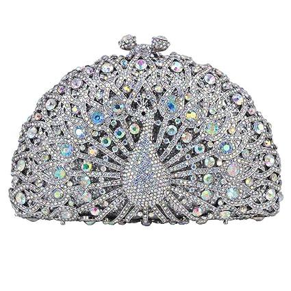 Bolso de Noche de Cristal Peacock Diamond Party Monedero ...