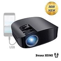 Projecteur HD, BeamerKing Videoprojecteur LED 3500 Lumens Retroprojecteur Projecteur Full HD Supporte 1080p Relier Ordinateur Portable iPhone Smartphone TV Xbox for Movie Jeux