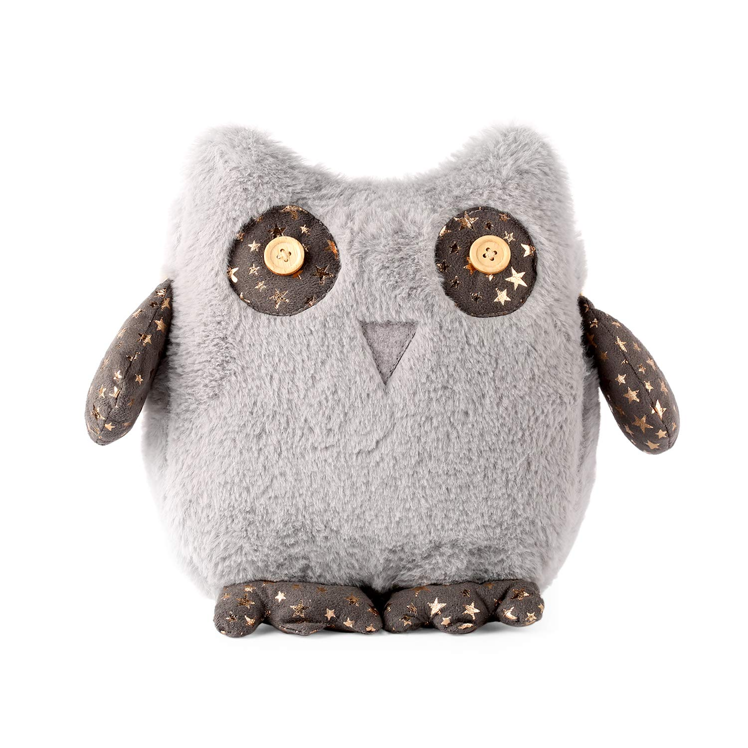meowtastic Great Gray Owl Plush Home Decor 8 1/2 Inches Stuffed Animal