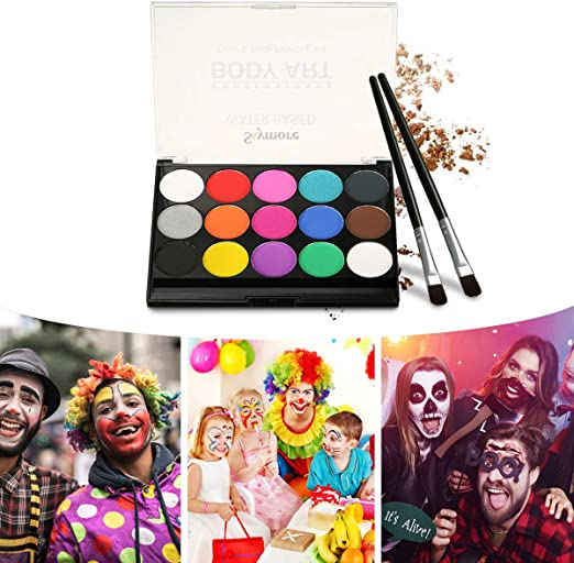 Skymore Pintura Facial, Juego de Maquillaje Para Niños, Maquillaje Para Cuerpo Professionale, Halloween, Carnaval, Maquillaje Facial, Pintura Corporal, Pigmento Natural: Amazon.es: Belleza