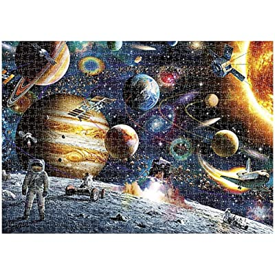 Jigsaw Puzzle 1000 Pieces for Adults Kids - Home Decoration Puzzle Frame Children Floor Outer Space Jigsaw Puzzle (29.52 x 19.68 Inch): Toys & Games