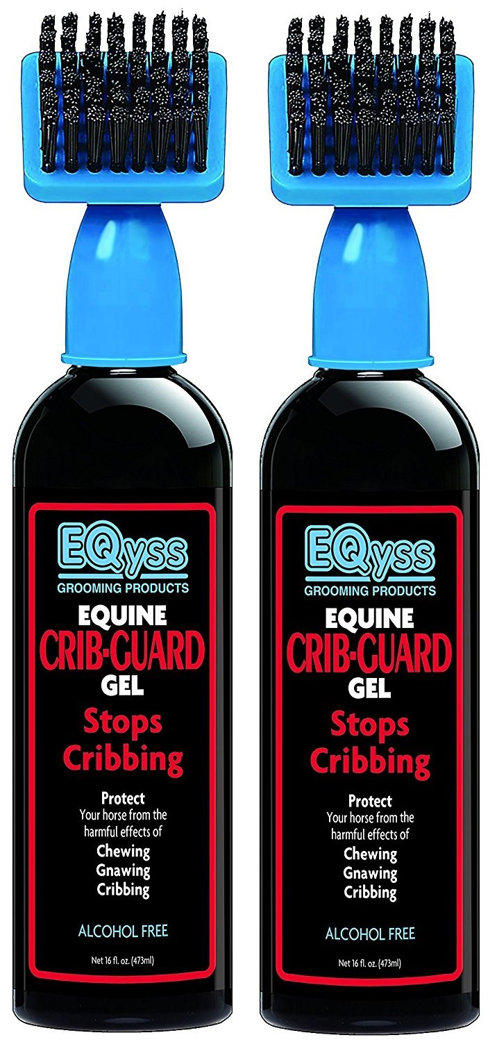 (2 Pack) EQyss Crib Guard Equine Gel, 16 oz. Per Bottle - Guaranteed to Stop Your Horse from Chewing and Cribbing