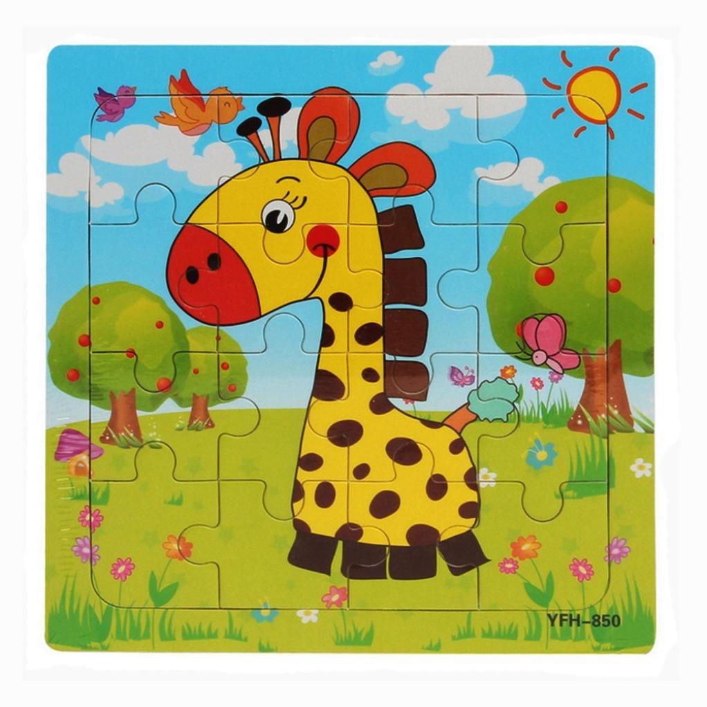 Jouets pour b/éb/é,Fulltime/®Puzzle en bois /éducatif enfants perfectionnement formation jouet A