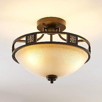 Lindby Deckenlampe Ferre Landhaus Vintage Rustikal In Braun Aus Metall U A Fur Wohnzimmer Esszimmer 3 Flammig E27 A Deckenleuchte Lampe Wohnzimmerlampe Amazon De Beleuchtung