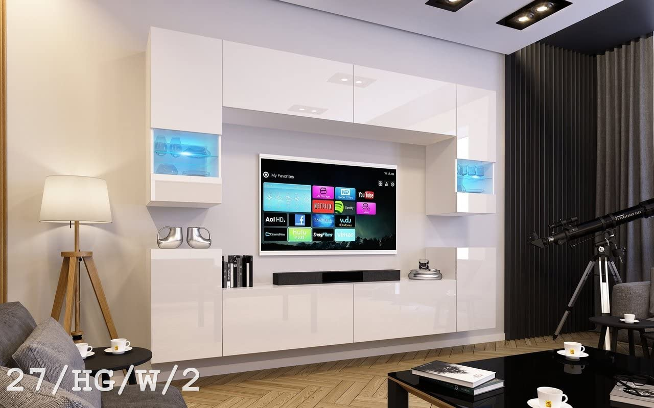 HomeDirectLTD Future 27, Conjunto de Muebles De Salón, Módulo Bajo ...