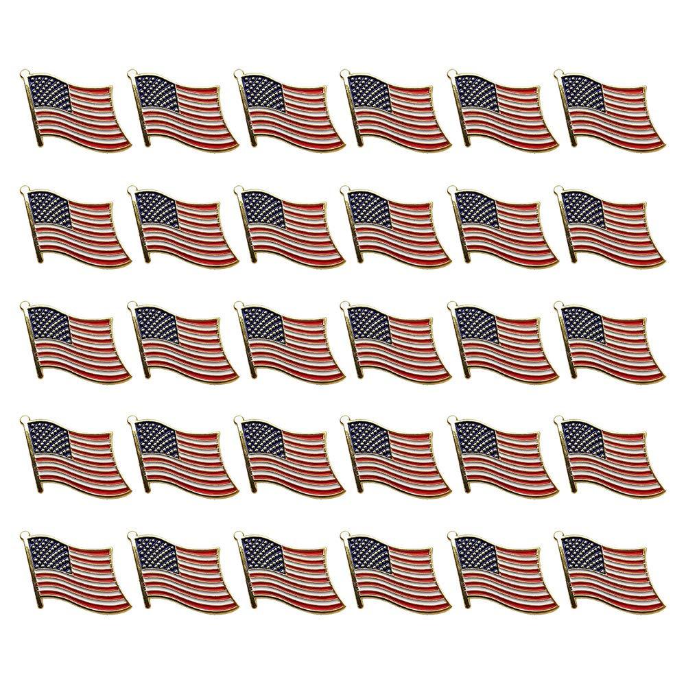 30PCS American Flag Pins United States Waving Patriotic Enamel Stars and Stripes Lapel Badge Pin by SkyCooool by SKYCOOOOL