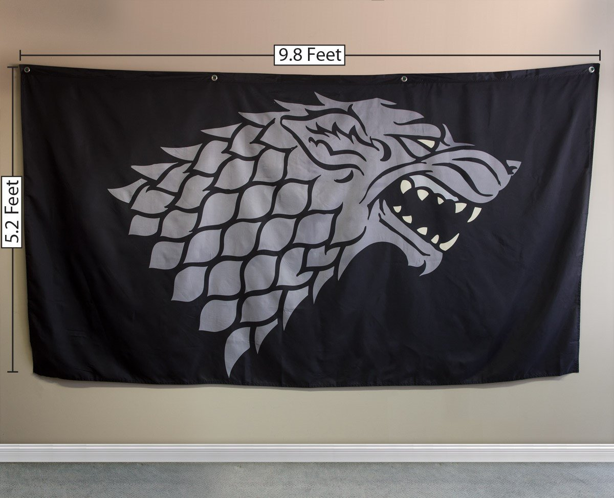 Stark 62 by 118 Calhoun Game of Thrones House Sigil Giant Banner