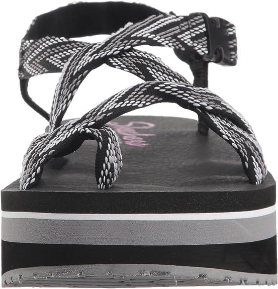 Skechers Women/'s Whippit-Glastonbury-Toe-Thong Slingback Platform Sandal