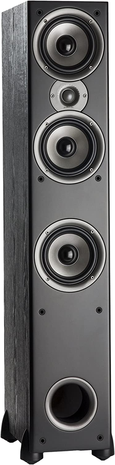 Polk Audio Monitor 60 Series II Floorstanding Speaker - Bestseller for Home Audio | Big Sound, | Affordable Price | 1 (1-inch) Tweeter and 3 (5.25-inch) Woofers | Black, Single