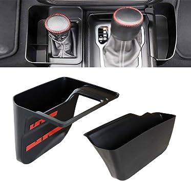 Black,Automatic Transmission Side Organizer Tray Interior Accessories Shifter Storage Box Center Console Storage for 2018-2020 Jeep Wrangler JL JLU /& 2020 Gladiator JT
